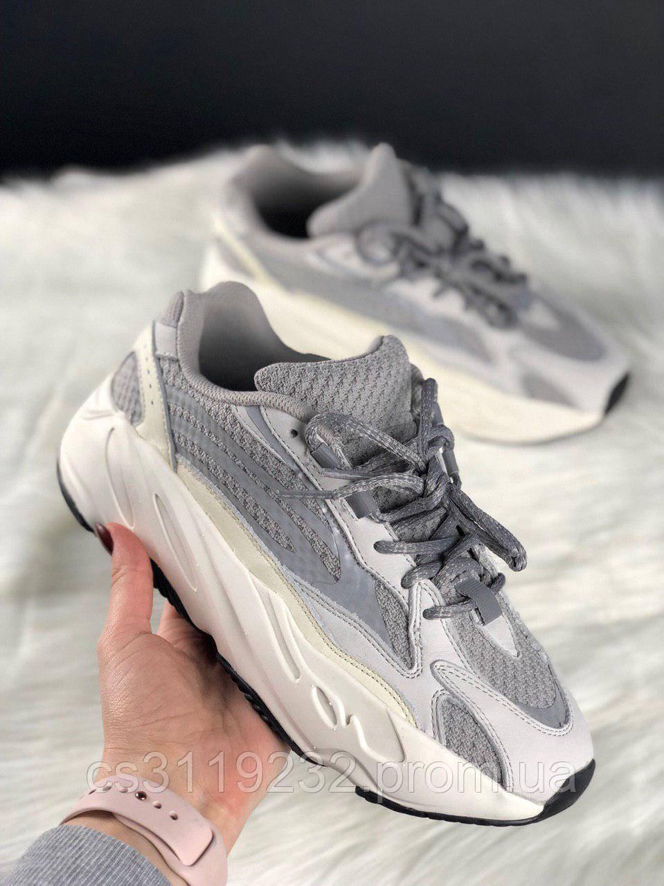 Женские кроссовки Adidas Yeezy Boost 700 Static Grey (серые)