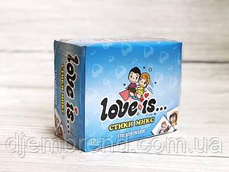 Жевательные конфеты Love is стики микс , 7 гр х 40 шт