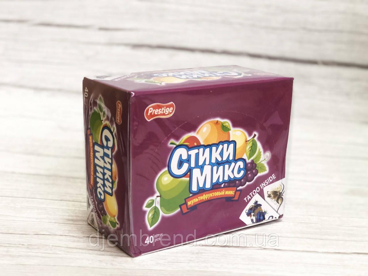 Жевательные конфеты Prestige стики микс , 7 гр х 40 шт