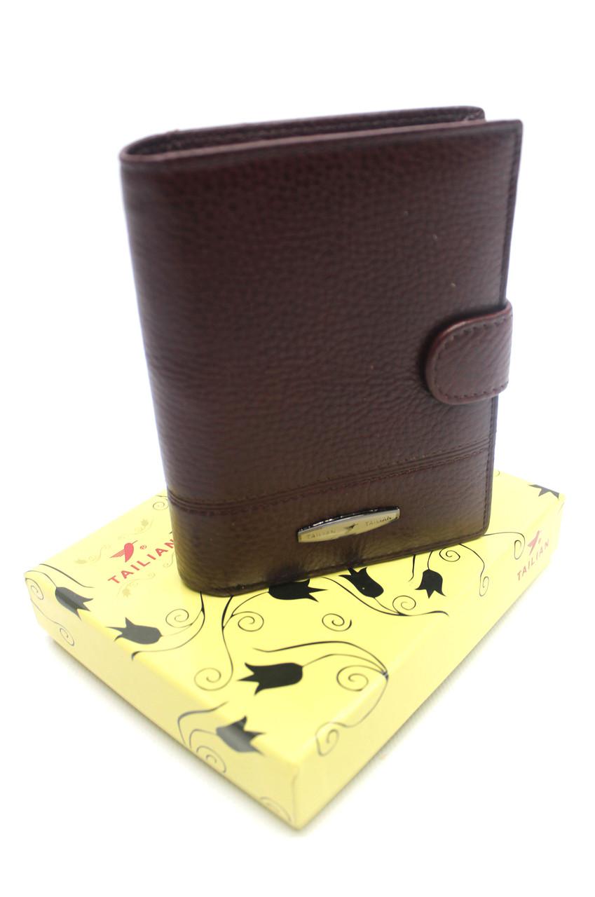Мужской кожаный кошелек Tailian YR T227