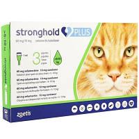 STRONGHOLD PLUS СТРОНГХОЛД ПЛЮС для котів вагою від 5 до 10 кг краплі на холку від бліх і кліщів , 1 піпетка