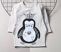 Платье для девочки Breeze Пингвин, двухнитка (р.92,98,104,110)