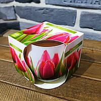 Ароматическая свеча в стекле BISPOL - Цветочная №SN71S-07
