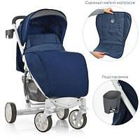 Прогулочная детская коляска ME 1011L ZETA DEEP BLUE Синяя, фото 1