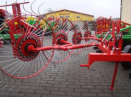 Грабли-ворошилки Agromech на круглой трубе (Украина-Польша, 4 секции, спица оцинкованная)