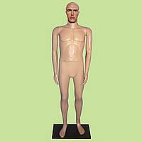 Манекен мужской реалистичный с макияжем на подставке