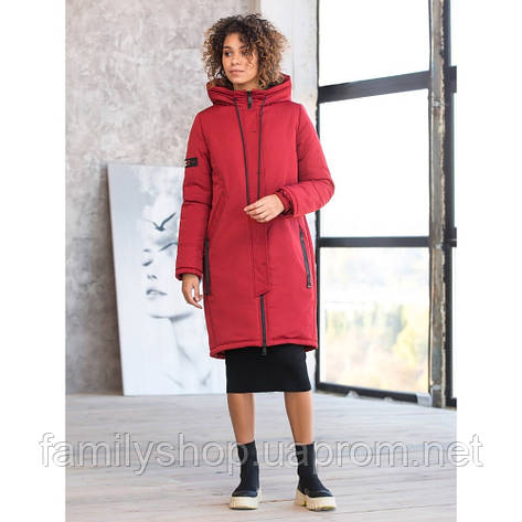 Женское зимнее пальто  с капюшоном, фото 2