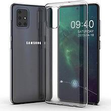TPU чехол Epic Transparent 1,0mm для Samsung Galaxy A71