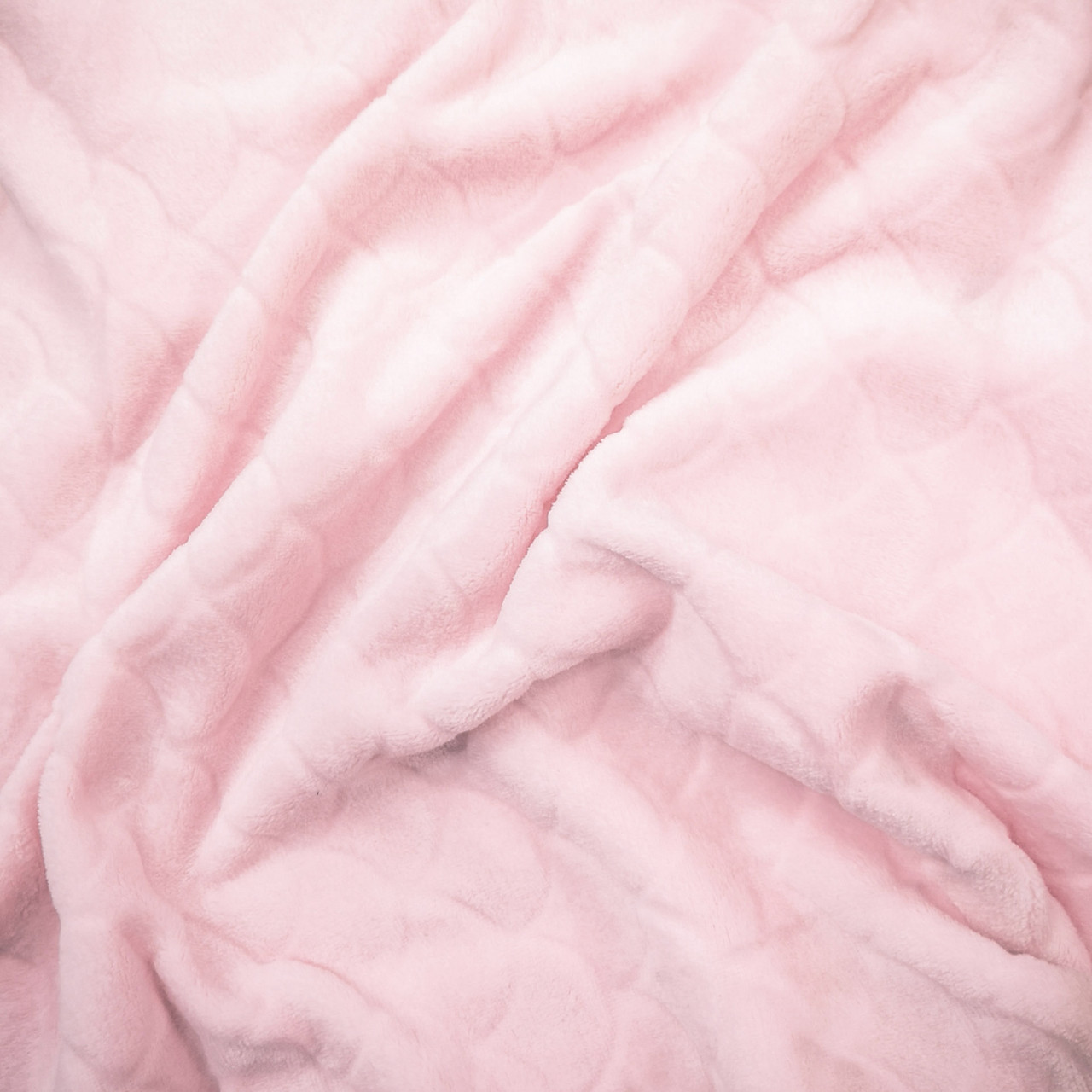 "Ткань махра велсофт розовая  design ""чешуя"""
