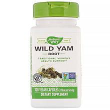 """Корень дикого ямса Nature's Way """"Wild Yam Root"""" для поддержки женского здоровья, 850 мг (100 капсул)"""