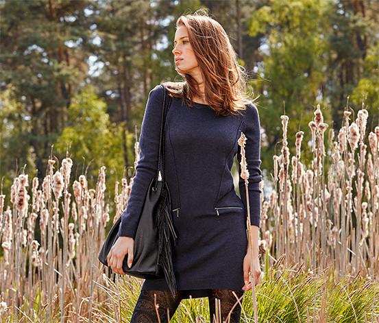 Теплое вязаное платье -пуловер -туника, 20 % шерсть от тсм Tchibo (чибо), Германия, размер 50-54