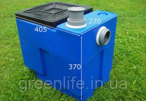 Сепаратор жира, 0.5л/с, DG 501e,жироуловитель, сепаратор жира  под мойку, Эколайн