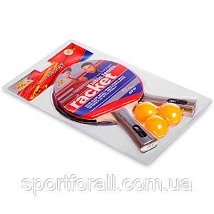 Набір для настільного тенісу 2 ракетки, 3 м'ячі MK (деревина, гума, пластик) MT-3303