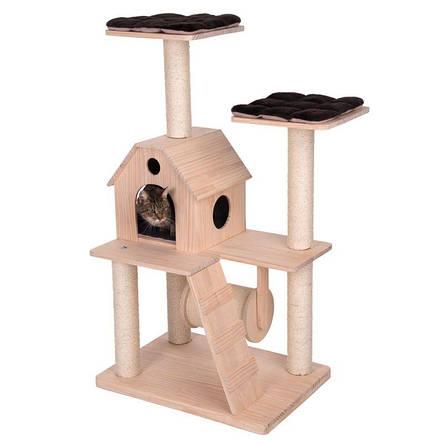 Игровой комплекс для котов Wooden castle S с домиком для кошки и когтеточкой, фото 2