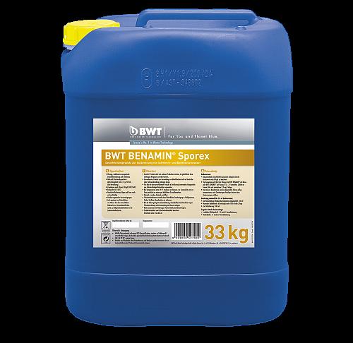 Рідкий дезинфікуючий засіб для догляду за басейном bwt benamin sporex (33 кг)