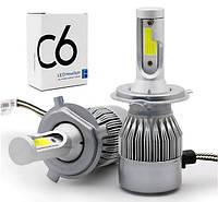 Светодиодные лампы Led C6 H4 (ближний/дальний)+ПОДАРОК!