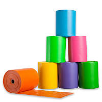 Лента эластичная для фитнеса и йоги в рулоне (р-р 20 мx15 смx0,45 мм) (латекс, цвета в ассортимен