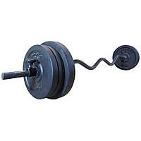 Штанга 26 кг W-образная разборная фиксированная 1.45 м (W-гриф, розбірна фіксована W-подібна), фото 1
