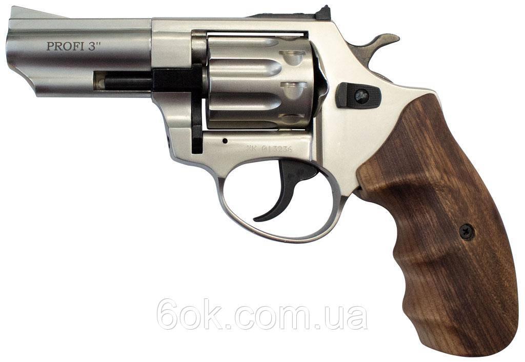 """Револьвер под патрон Флобера PROFI-3"""" сатин/бук"""