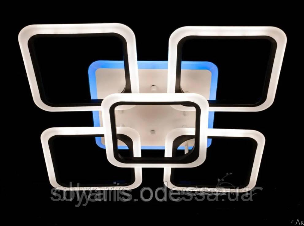 Люстра потолочная светодиодная с подсветкой V222004-4+1/100W   ВK ДИММЕР