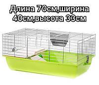"Клетка для кролика или морской свинки Super Rabit 70 zink,""Interzoo""-70*40*33"