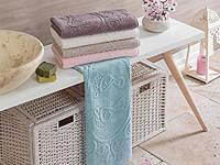 Махровое полотенце для ног 50 х 70 цвет лиловый