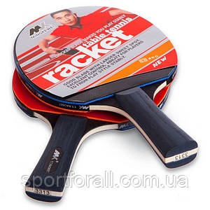 Набор для настольного тенниса 2 ракетки, 4 мяча MK (древесина, резина, пластик) MT-3313