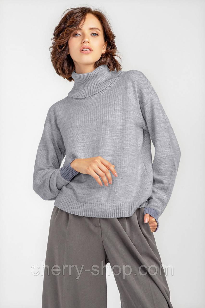 Базовый cdtnkj cthsq свитер с акцентными манжетами , размер 42-52