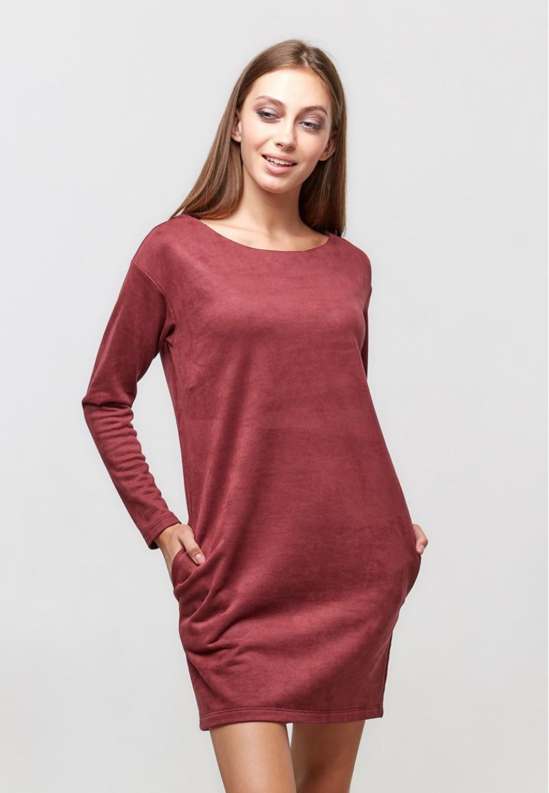 Женское короткое платье ORA 20055/1 длинный рукав