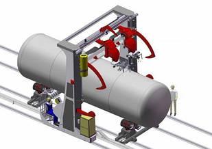Автоматична установка портального типу для зварювання поздовжніх і кільцевих швів GWU B. 1 BUILDER HST creative