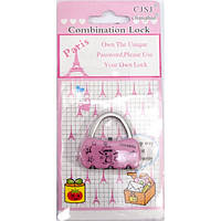 "Замок кодовый ""Сумочка"" розовый (4х4х1 см) ( 31155B)"