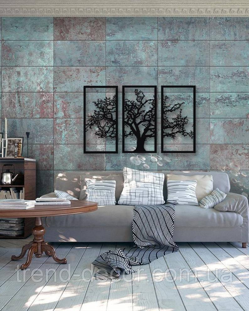 Декоративное металлическое панно  Дерево.