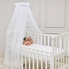Балдахін для дитячого ліжечка універсальний