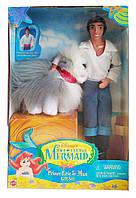 Колекційна лялька Ерік і собака Макс Русалонька Disney The Little Mermaid Prince and Eric Max 1997 Mattel
