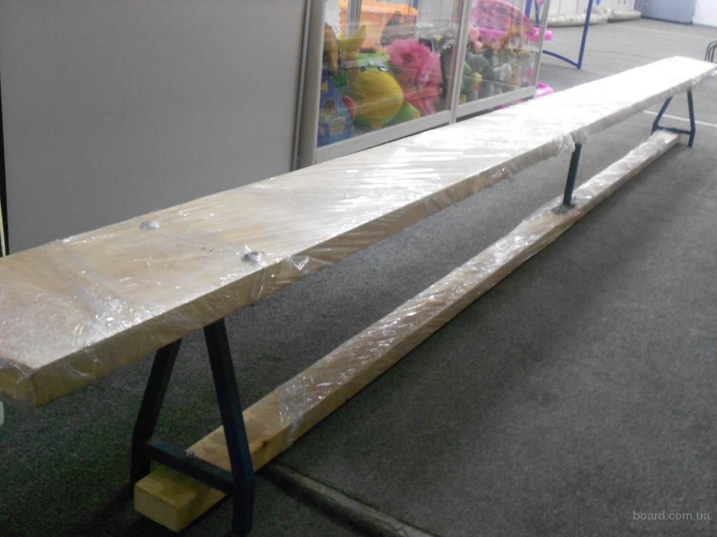 Лавка гимнастическая скамья, лава 3,5 м деревянная