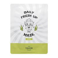Увлажняющая тканевая маска для лица с экстрактом алоэ Village 11 Factory Daily, фото 1