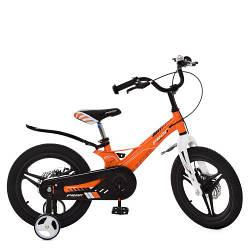 Оранжевый детский велосипед PROF1 16 дюймов LMG16234
