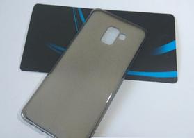 Силиконовый чехол для Samsung Galaxy A8 Plus 2018 A730 черный прозрачный