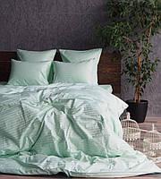 Комплект постільної білизни; двоспальний страйп-сатин 100% бавовна, фото 1