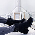 Демисезонные женские ботильоны черного цвета, из эко замши, фото 5