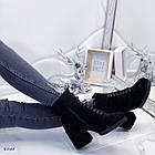 Демисезонные женские ботильоны черного цвета, из эко замши, фото 7
