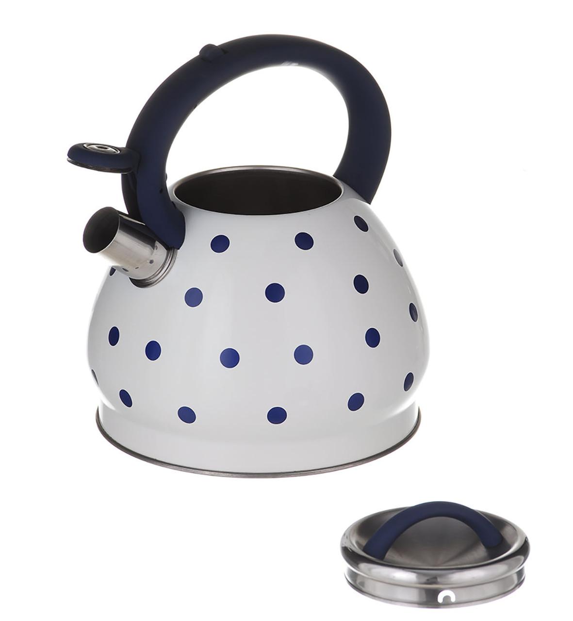 Чайник A-PLUS со свистком 3 литра фиолетовый