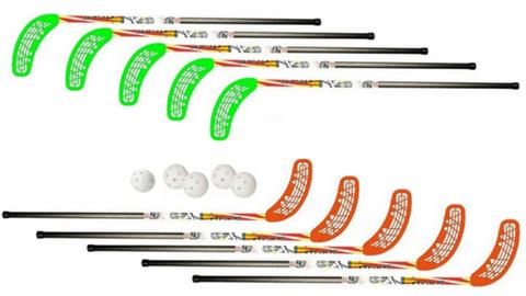 Набор для флорбола Unibros TEKE 95см (10 палочек + 5 шариков)
