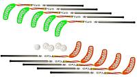 Набор для флорбола Unibros TEKE 95см (10 палочек + 5 шариков), фото 1