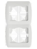 Рамка ABB El-bi ZIRVE Fixline двойная вертикальная белая, Турция