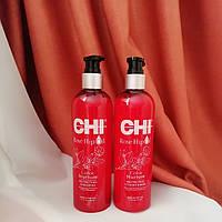 Набор Chi Rose Hip Oil Color для окрашенных волос с маслом розы и кератином/ шампунь 340 мл+кондиционер 340 мл