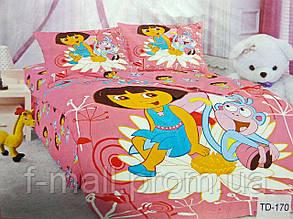 Комплект детского постельного белья ELWAY (Польша) 3D сатин полуторное (170)
