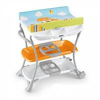 Пеленальный столик с ванночкой САМ - Nuvola, цвет оранжевый