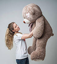 Плюшевый мишка Mister Medved с латками Капучино 150 см, фото 2