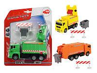Автомобиль Dickie Toys Мусоровоз с контейнером и оградой 22 см (3343000)